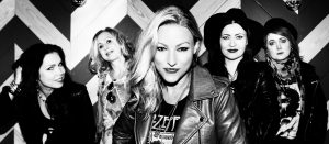 BARBE-Q-BARBIES sign with Dissonance